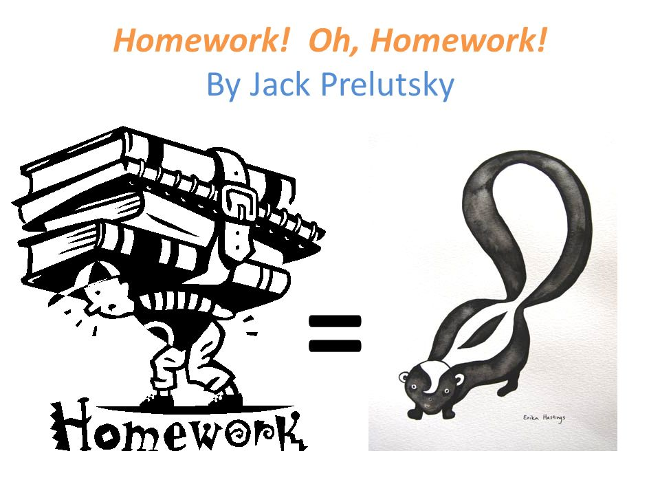 homework oh homework by jack prelutsky analysis