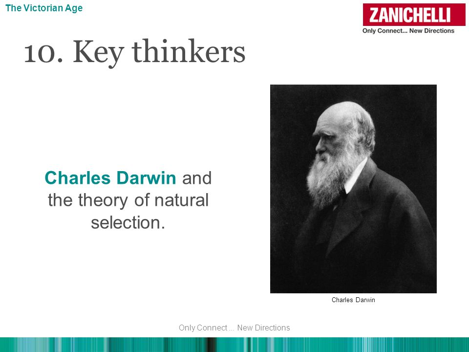 10. Key thinkers Charles Darwin and the theory of natural selection.