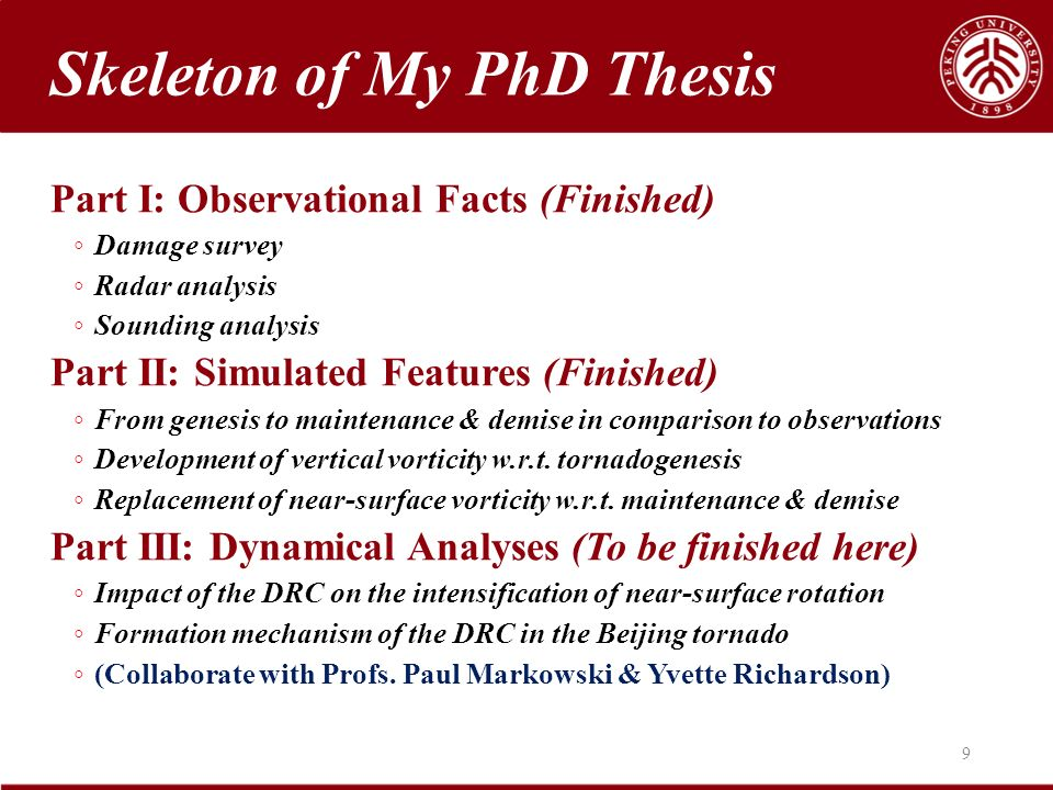 Of my phd thesis