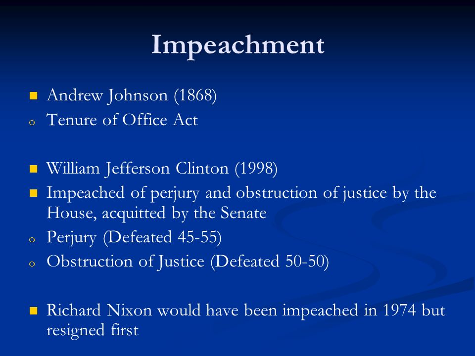 a description of the impeachment for committing perjury of president william jefferson clinton Sick of abc news/peter jennings interrupting our soaps  president william jefferson clinton, 8/17/98   she was convicted for committing perjury.