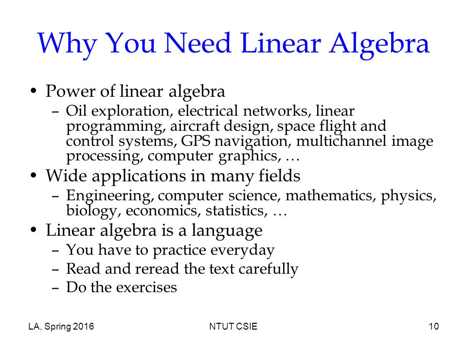 Course Overview Linear Algebra Ppt Video Online Download
