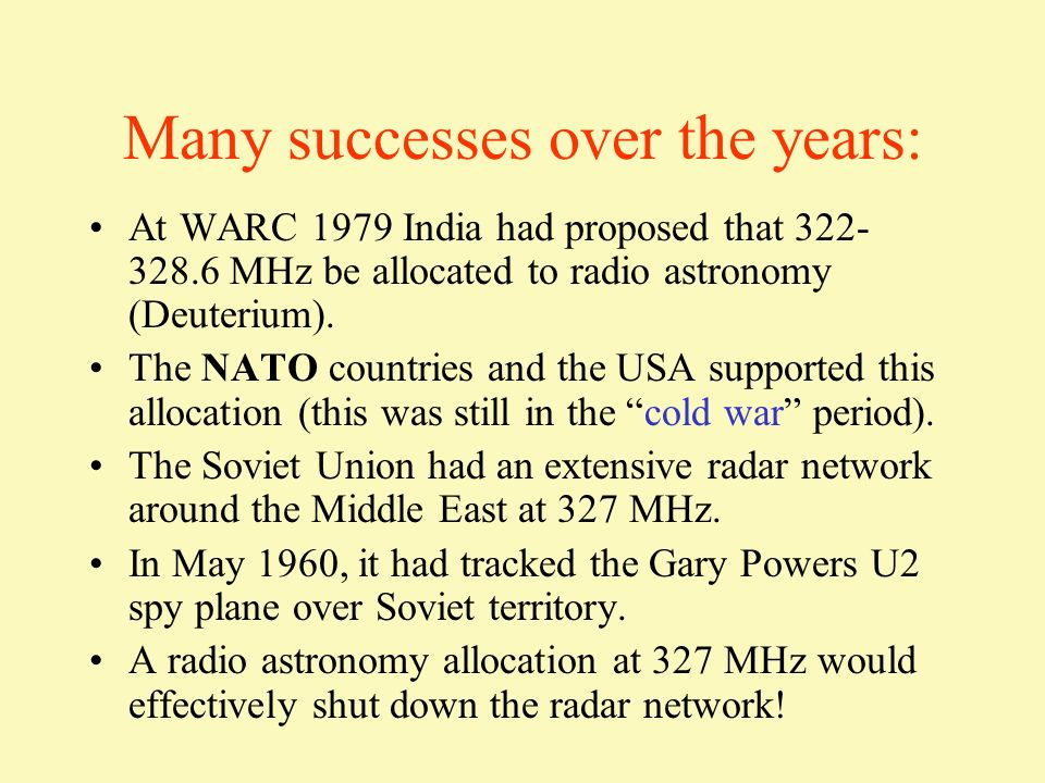 Many successes over the years: