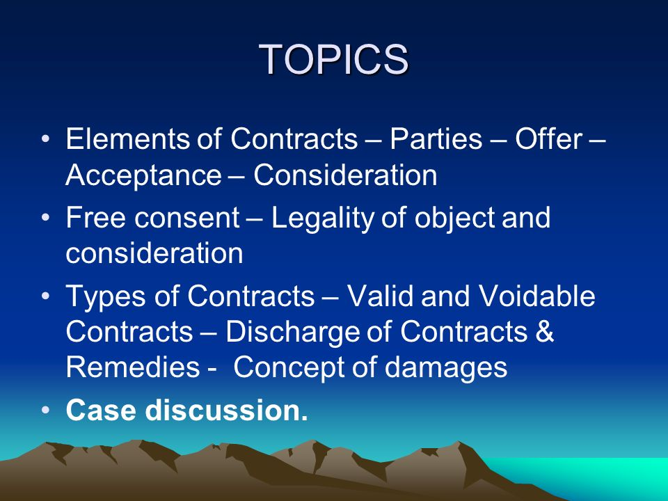 ModuleA Business Contracts  Indian Contract Act   Ppt