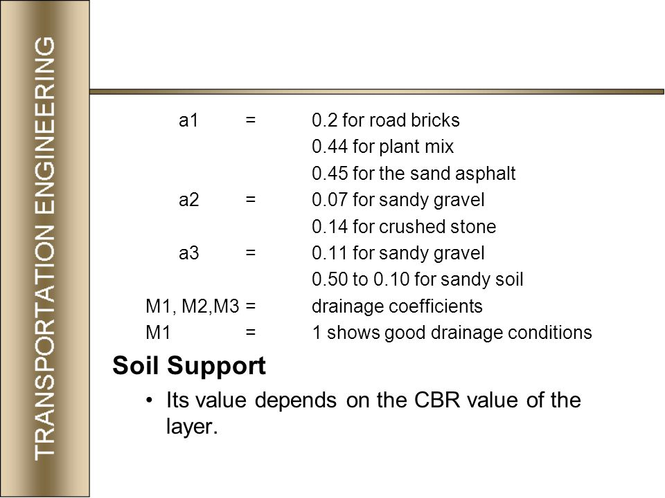 Transportation engineering ii ppt video online download for Soil support