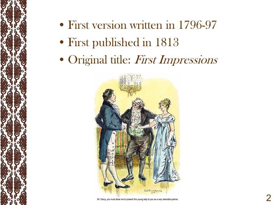 pride and prejudice by jane austen ppt video online  2 first