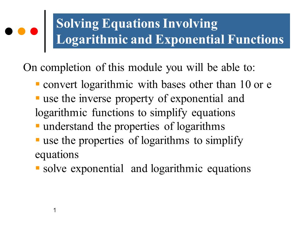 exponential and logarithms functions Exponential and logarithmic differentiation and integration have a lot of practical applications and are handled a little differently than we are used to for a review of these functions, visit the exponential functions section and the logarithmic functions section.