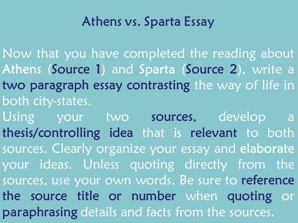 spartan economy essay