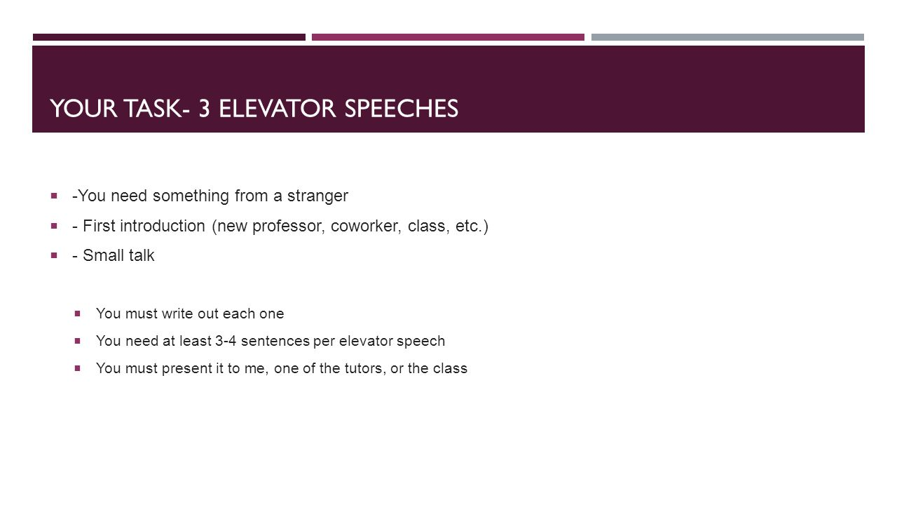 elevator speech ppt