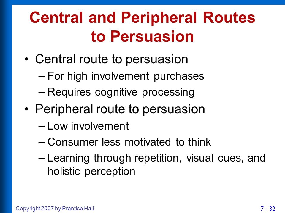 central route and peripheral route two These are known as two routes of persuasion they are central route  persuasion and peripheral route persuasion a group of colorful people.