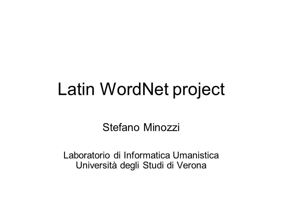 Laboratorio di Informatica Umanistica Università degli Studi di Verona
