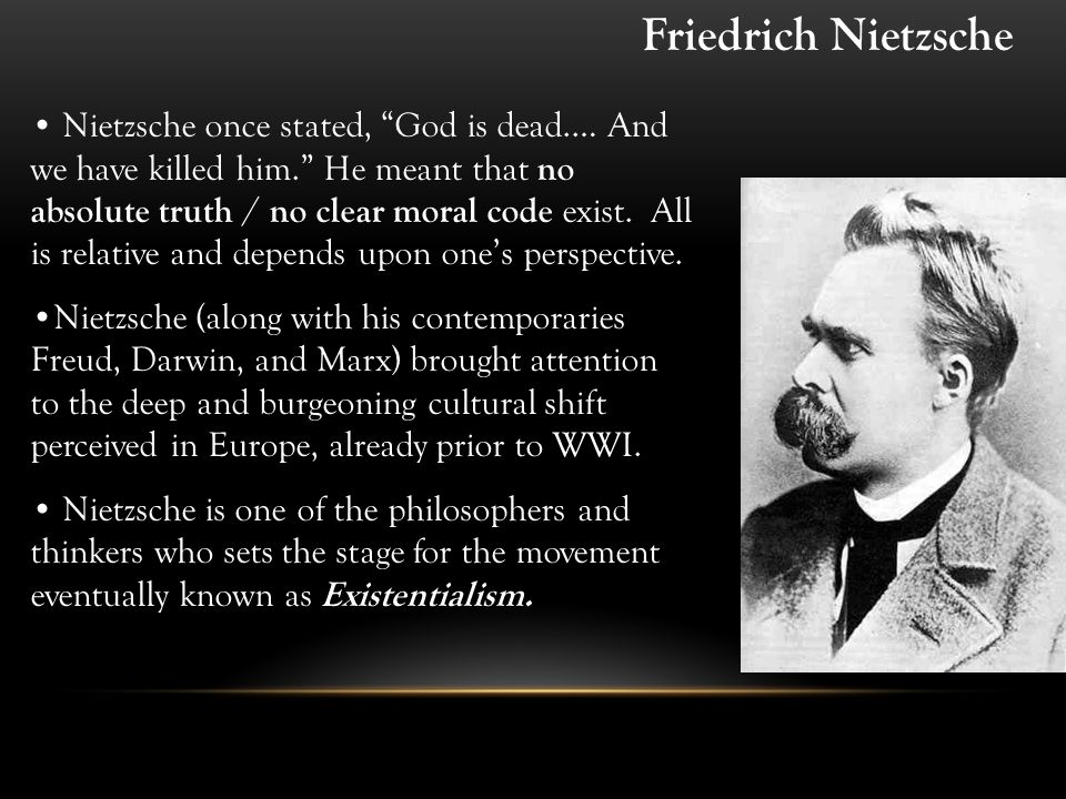 friedrich nietzsches god is dead essay When nietzsche wrote the words 'god is dead,' he put them in the mouth of a character who was telling people about the death of the concept of god.
