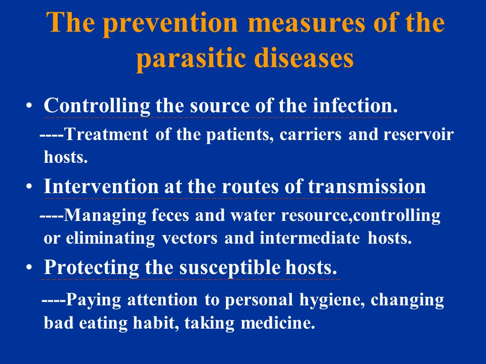 an introduction to the general knowledge about parasitic diseases Unit parasitology introduction to the course, illustration of textbooks and accessory learning materials illustration of final test features introduction and general features of human parasitic protozoa.