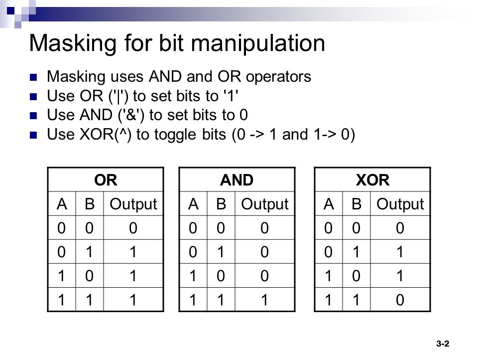 bit manipulation Terminology bit twiddling and bit bashing are often used interchangeably with bit manipulation, but sometimes exclusively refer to clever or non-obvious ways or uses of bit manipulation, or.