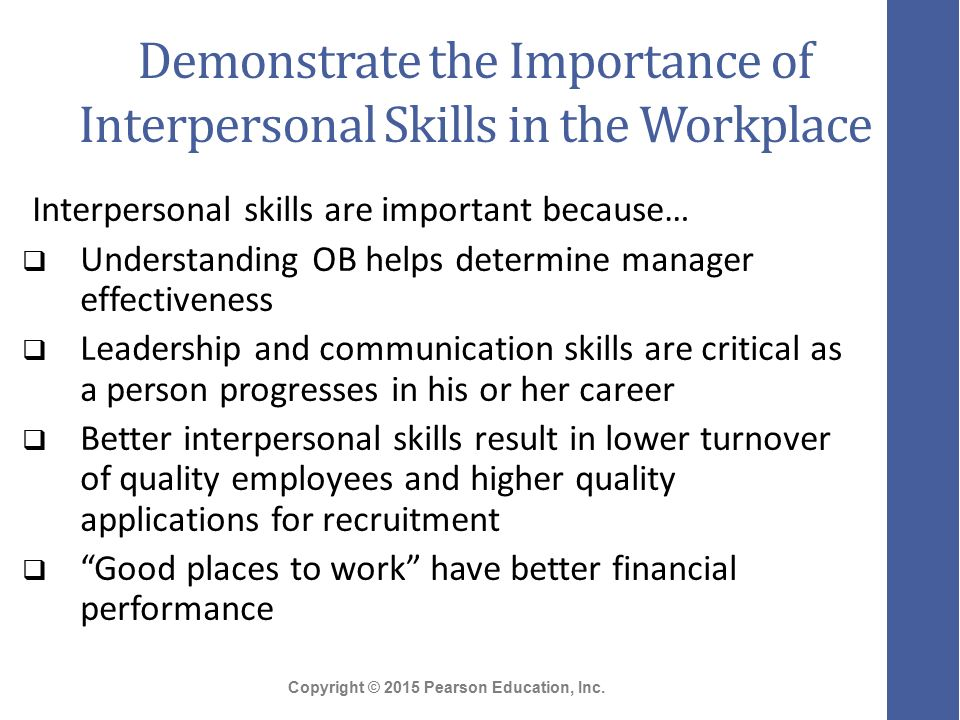 importance of interpersonal relationship in the workplace