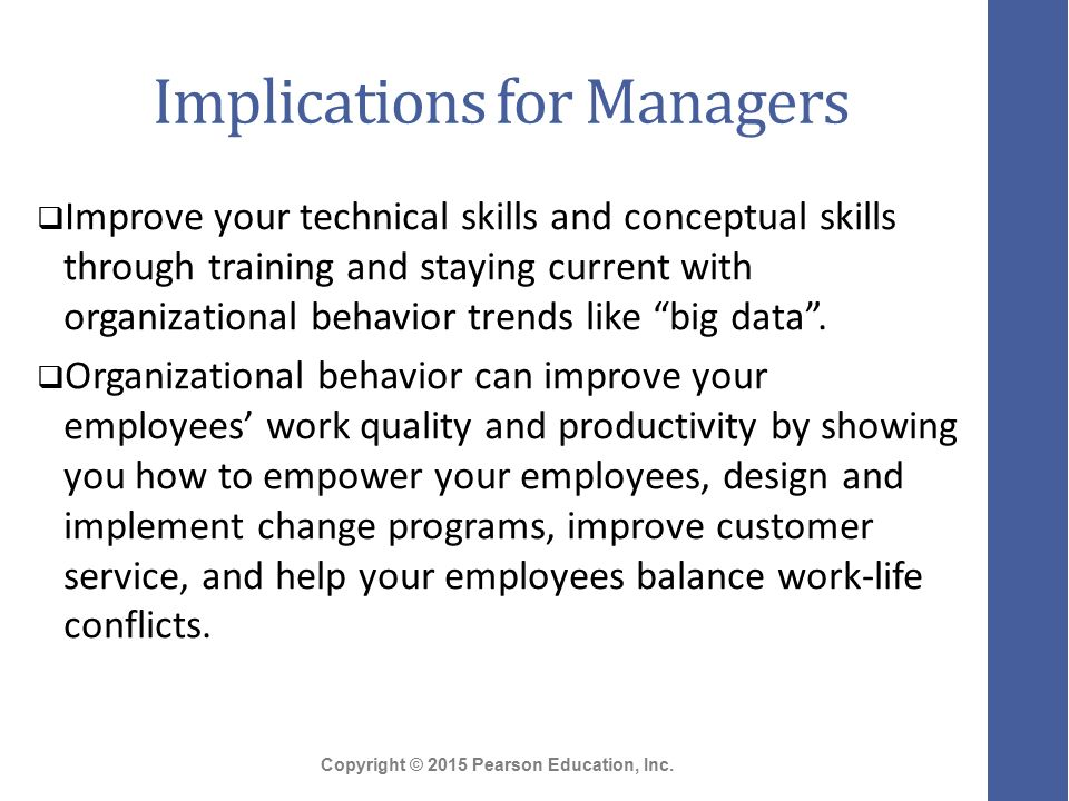 Organizational Behavior Skills Needed by Managers