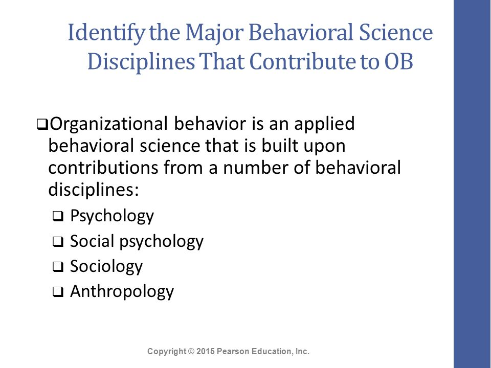 Organizational Behavior and Other Fields of Study