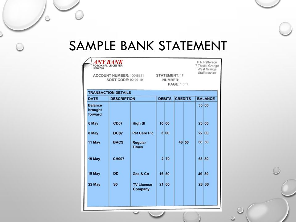 Sample Bank Statement Bank Account Statement Sample Jpg Bank