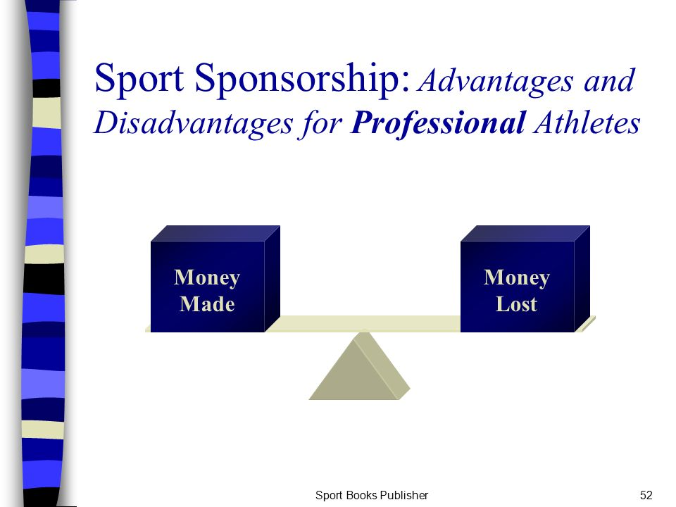 sponsorship on professional sports The sponsorship business offers a range of professional services designed to meet the needs of sponsorship-seekers at all levels of sport, as well as companies that.