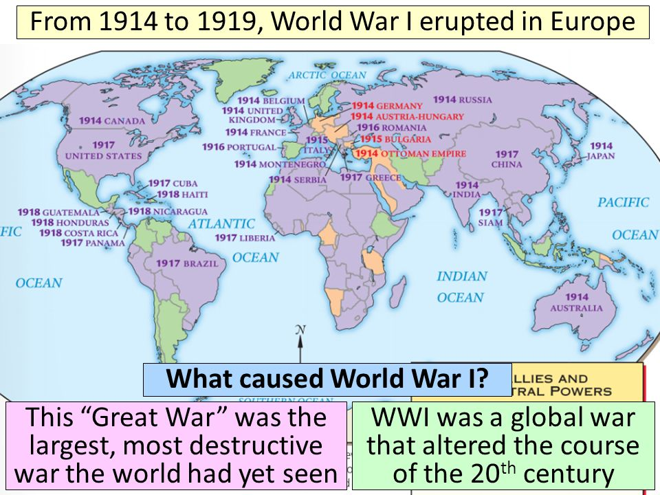 an analysis of the world war one precedent in europe A brief outline of the first world war defining world war i the other countries involved in world war one were not fighting this was a war without precedent.
