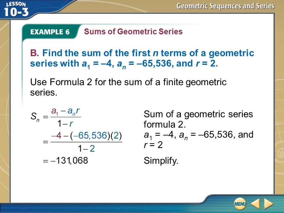 How to Calculate the Sum of a Geometric Series | Sciencing