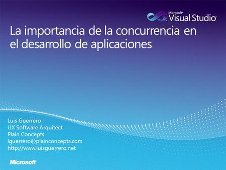 Luis Guerrero UX Software Arquitect Plain Concepts