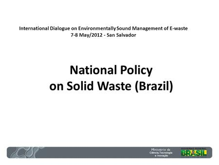 National Policy on Solid Waste (Brazil)