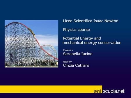 Liceo Scientifico Isaac Newton Physics course