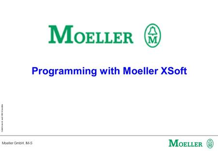 Programming with Moeller XSoft