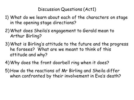 Discussion Questions (Act1)