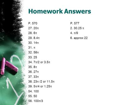 Homework Answers P. 570 P   28. 6 4. /9