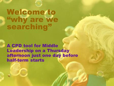 Welcome to why are we searching A CPD tool for Middle Leadership on a Thursday afternoon just one day before half-term starts.