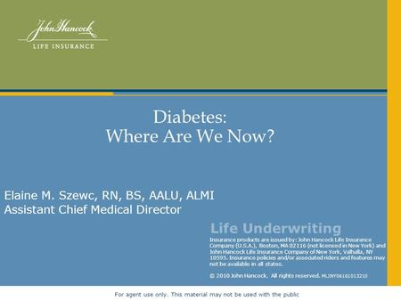 Diabetes: Where Are We Now?