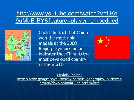 9uMbE-BY&feature=player_embedded Could the fact that China won the most gold medals at the 2008 Beijing Olympics be.