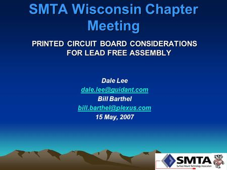SMTA Wisconsin Chapter Meeting