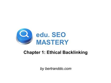 Chapter 1: Ethical Backlinking