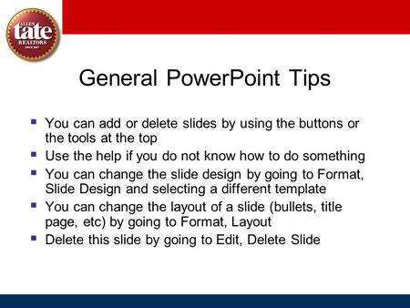 General PowerPoint Tips