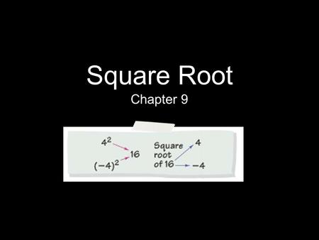 Square Root Chapter 9.