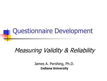 Questionnaire Development