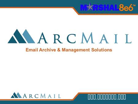 Archive & Management Solutions