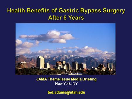 Health Benefits of Gastric Bypass Surgery After 6 Years