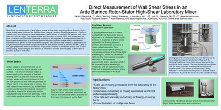 Direct Measurement of Wall Shear Stress in an