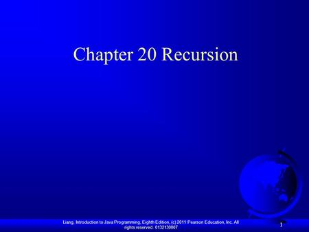 Chapter 20 Recursion.