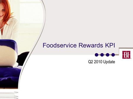 Foodservice Rewards KPI Q2 2010 Update. 2 Key performance indicators Acquisition Acquisition Quality Immersion Conversion Interaction Retention Customer.