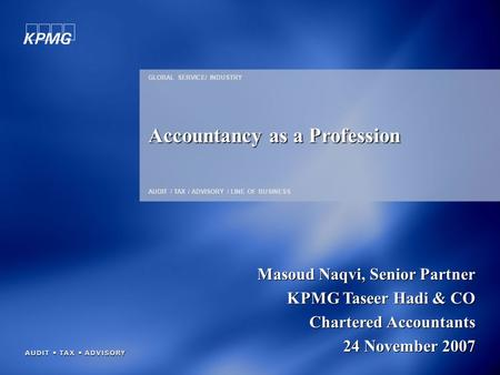 Accountancy as a Profession