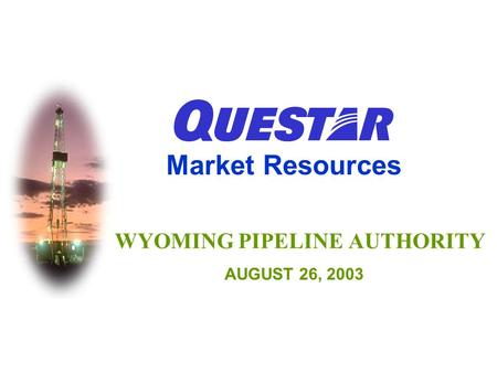 WYOMING PIPELINE AUTHORITY