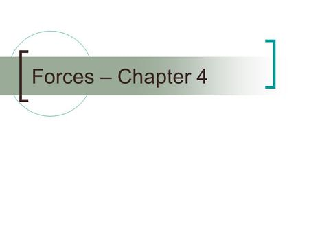 Forces – Chapter 4.