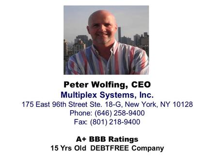 15 Yrs Old DEBTFREE Company