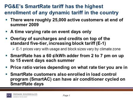 Load Impacts And Marketing Effectiveness from The Countrys Largest Dynamic Pricing Program Load Impacts And Marketing Effectiveness from The Countrys Largest.
