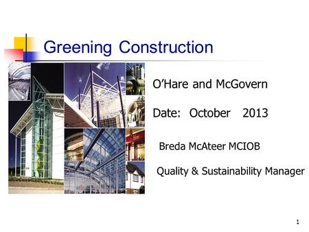 Greening Construction