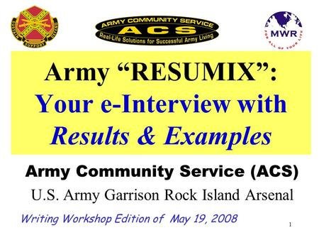 "Army ""RESUMIX"": Your e-Interview with Results & Examples"